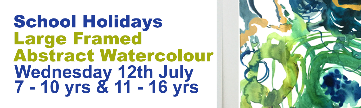 School Holiday Program Large Abstract Watercolour Workshop