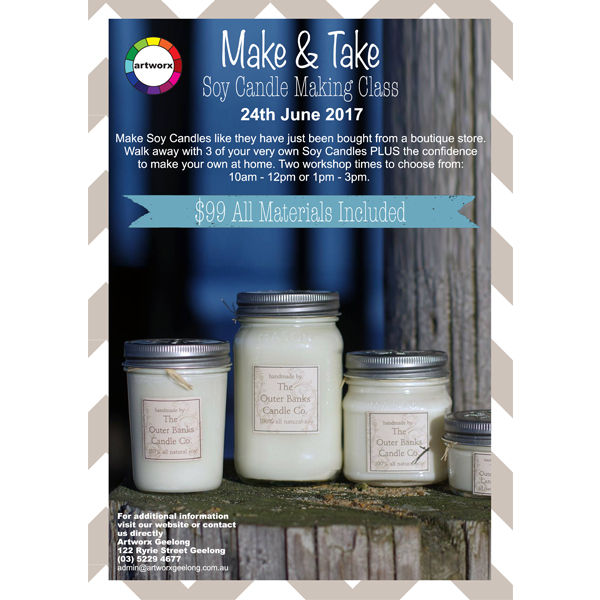 *NEW DATES Soy Candle Making Class Saturday 24th June