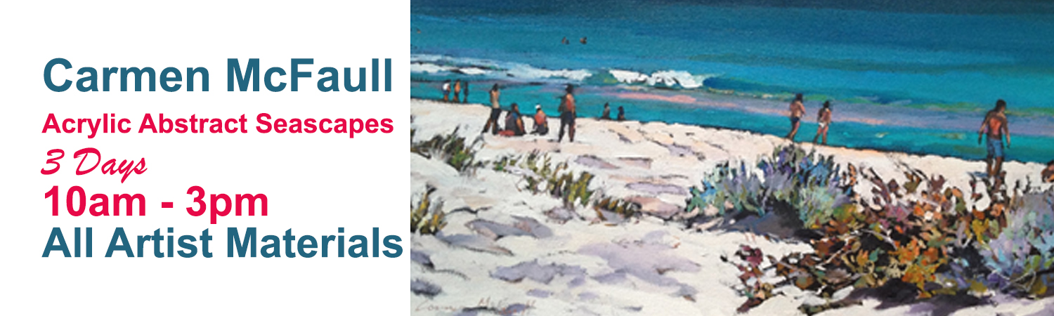 3 Day Acrylic Seascapes with artist Carmen McFaull 31st August 1st & 2nd September 2016