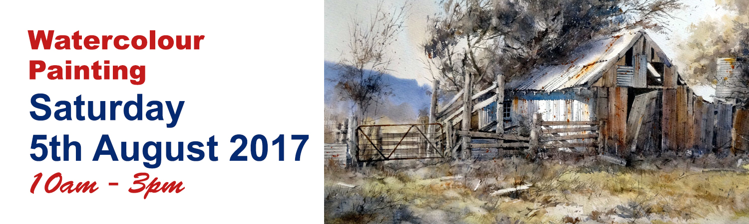 One Day Watercolour Workshop Saturday 5th August 2017