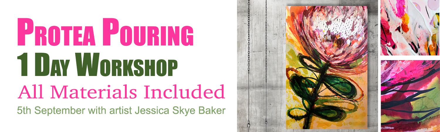Protea Pouring Workshop with artist Jessica Skye Baker