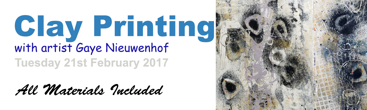 2017 Clay Block Printmaking Workshop 21st of February 10am to 3pm in the Artworx Studio