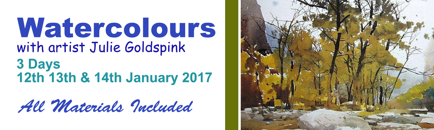 2017 3 Days of Watercolour with Julie Goldspink in the Artworx Geelong Studio