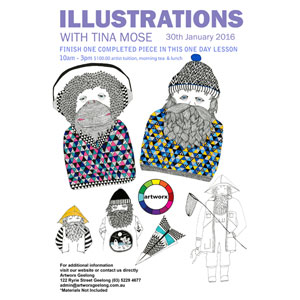 Drawing Lessons: Illustrations with Tina Mose 30th January 2016