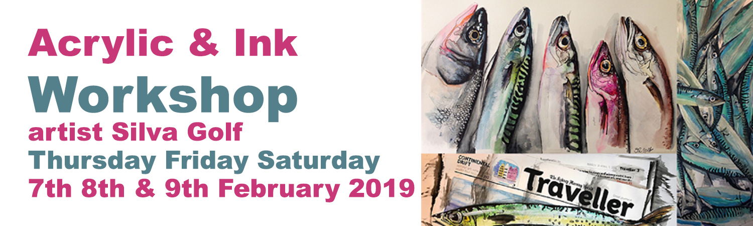 3 Day Acrylic and Ink Workshop
