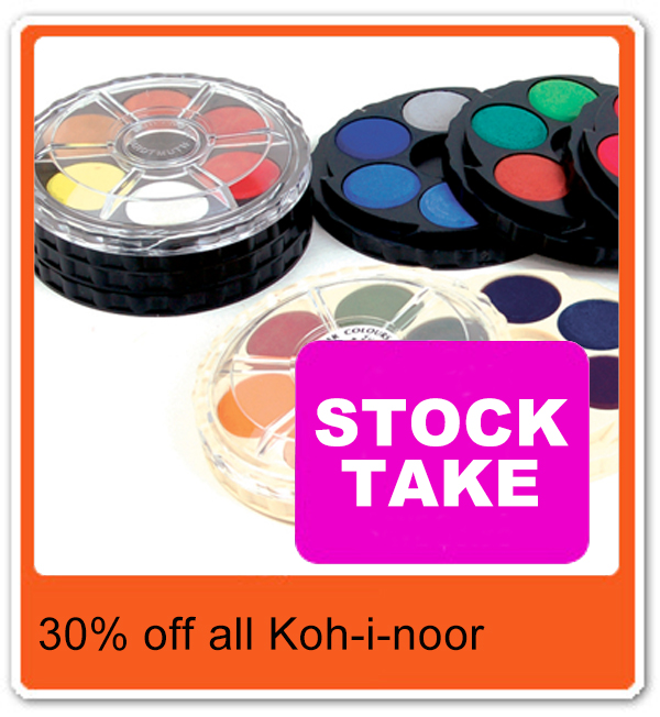 Koh-i-noor Brilliant 12pc Water Colour Travel Disc Set