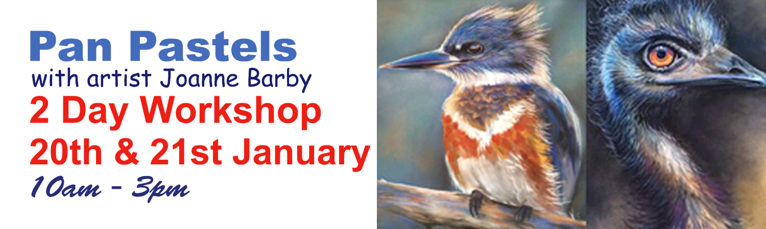 2017 Pan Pastels in the Artworx Studio with artist Joanne Barby 20th & 21st January 2017
