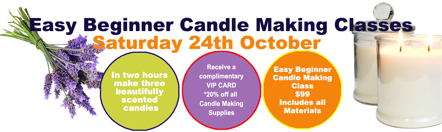 Soy Wax Candle Making Class 24th October 2015
