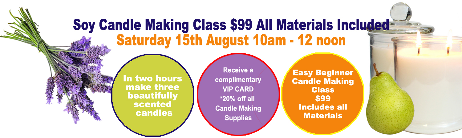 Soy Candle Making Classes at Artworx Geelong
