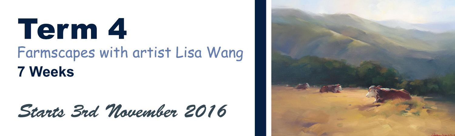 2016 Term 4 Farmscapes with artist Lisa Wang in the Artworx Geelong Studio