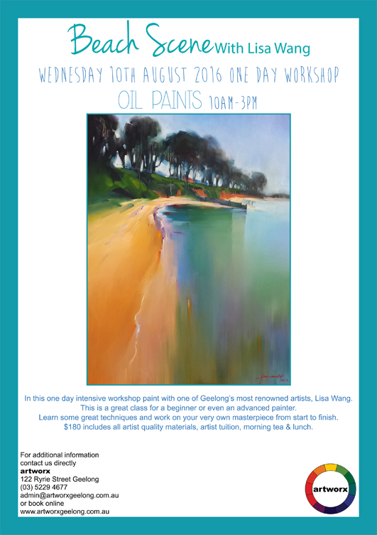 Oils with artist Lisa Wang 10th August 2016