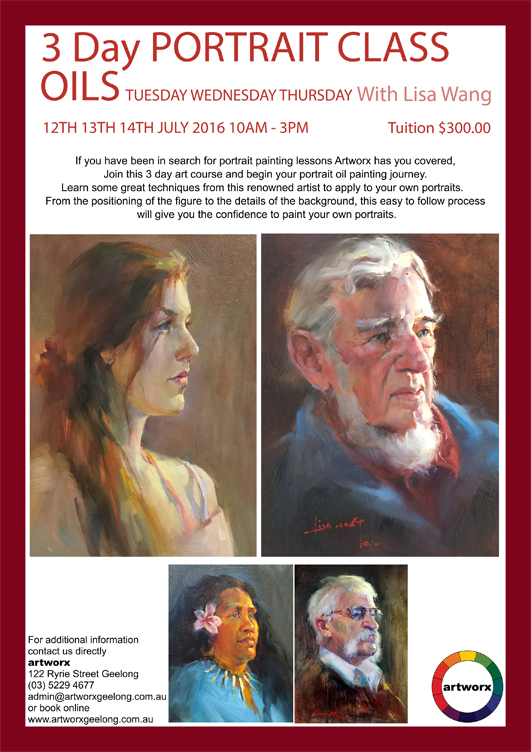 Oil Painting with artist Lisa Wang 12th 13th & 14th July 2016