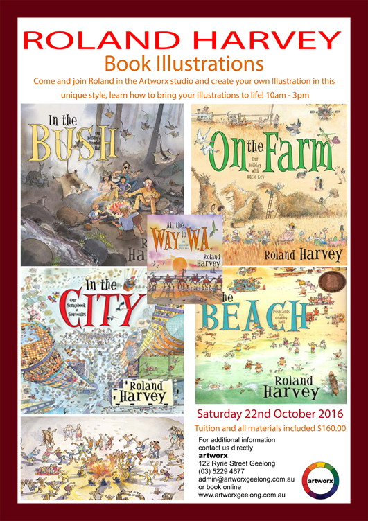 Illustrations with artist & author Roland Harvey 22nd October 2016