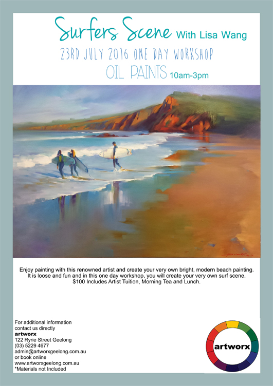 Oils with artist Lisa Wang 23rd July 2016