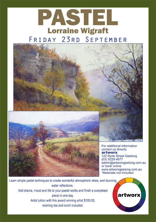 Pastel with artist Lorraine Wigraft 23rd September 2016
