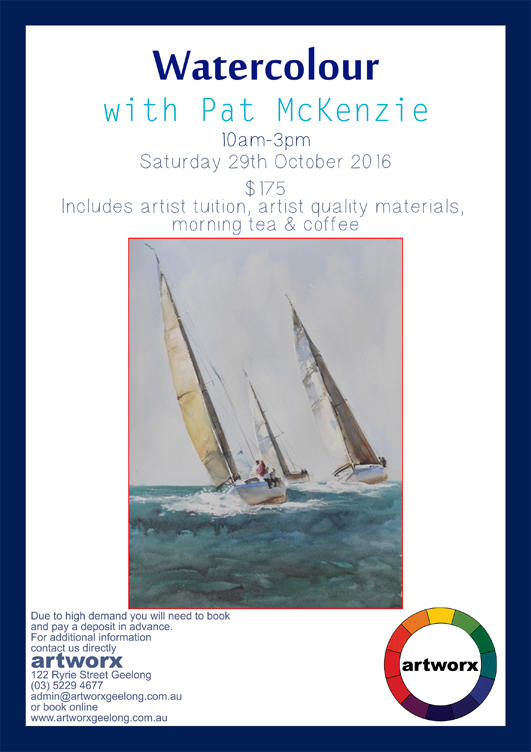 Water Colour with artist Pat McKenzie 29th October 2016