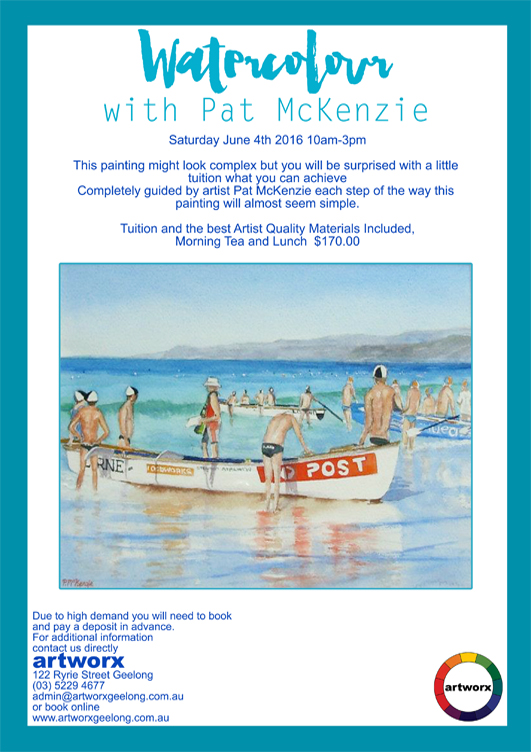 Water Colour with artist Pat Mc Kenzie 4th June 2016