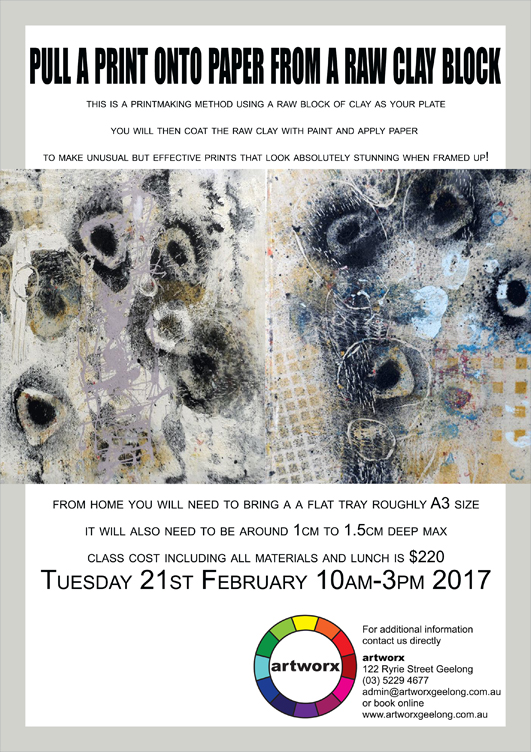 Clay Block Printing Tuesday 21st February 2017