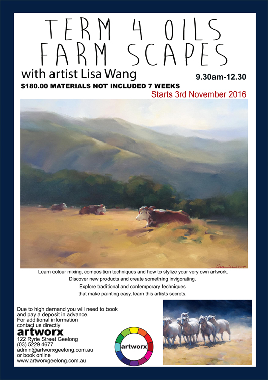 Term 4 Oils 2016 Farmscapes with artist Lisa Wang