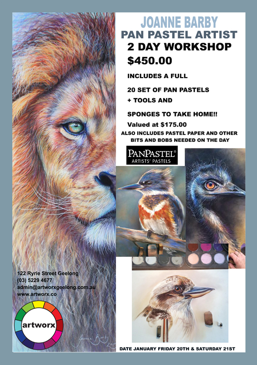 Pan Pastels in the Artworx Studio with artist Joanne Barby 20th & 21st January 2017