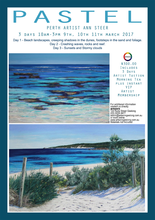 3 Day Pastel Workshop 9th 10th 11th March 2017 with artist Ann Steer