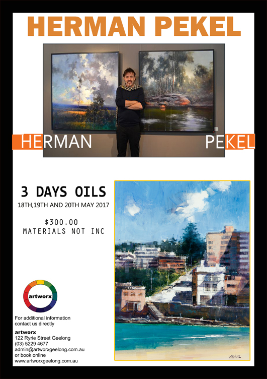 Oils with Herman Pekel 18th 19th 20th May 2017