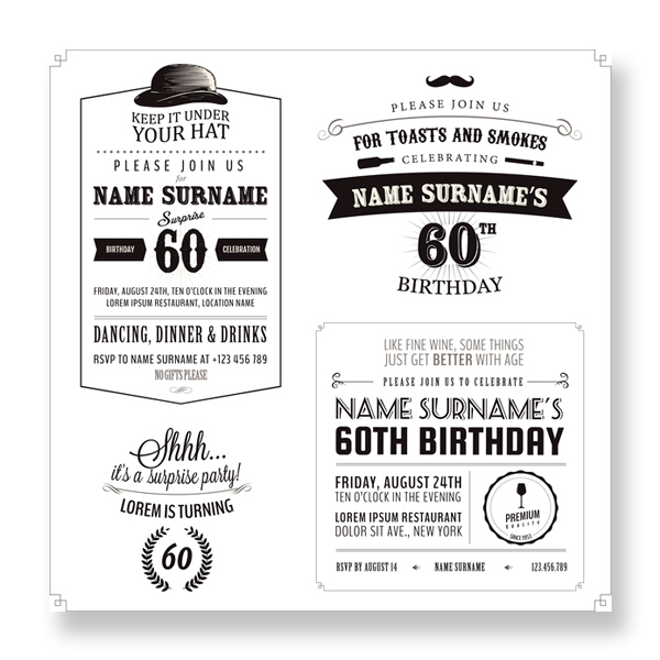 Bespoke invitations geelong graphic design art supplies geelong 16th birthday invitations 60th birthday invitations stopboris Choice Image