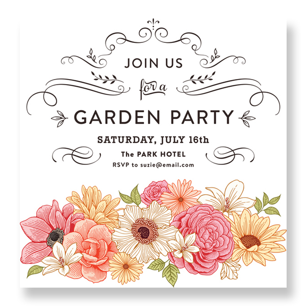 Bespoke invitations geelong graphic design art supplies geelong garden party invitations bridal shower invitation stopboris Choice Image