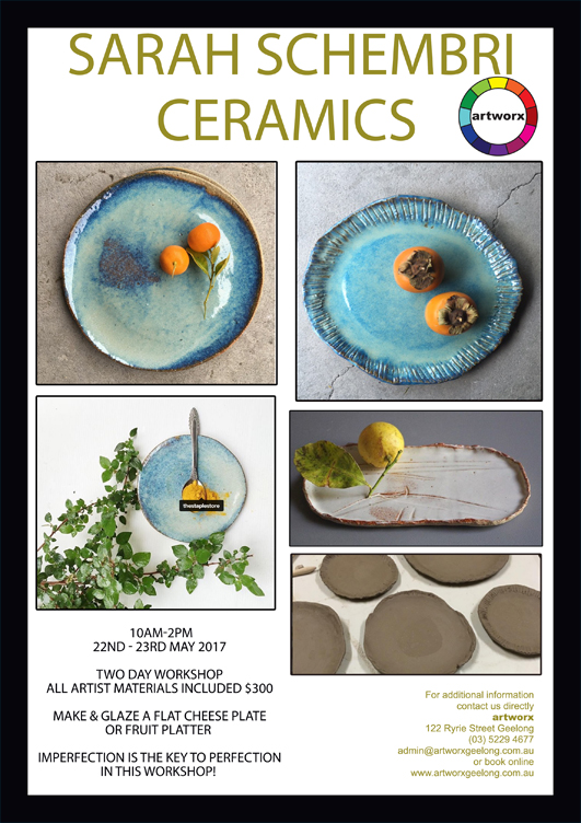 Ceramics with artist Sarah Schembri 22nd & 23rd May 2017