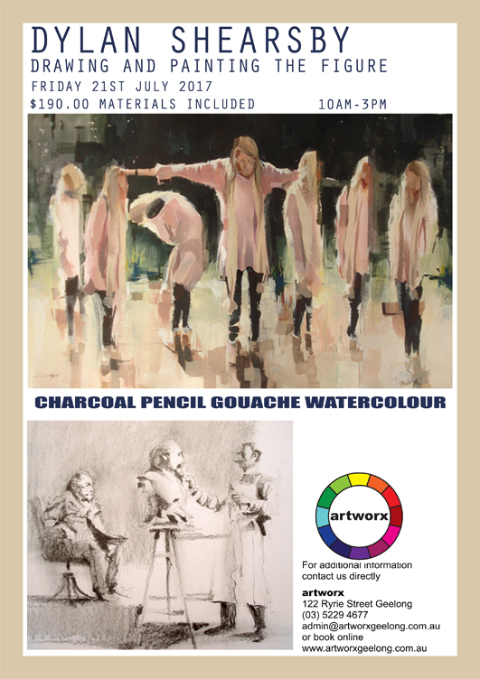 Drawing & Painting the Figure in Charcoal Gouache & Watercolour