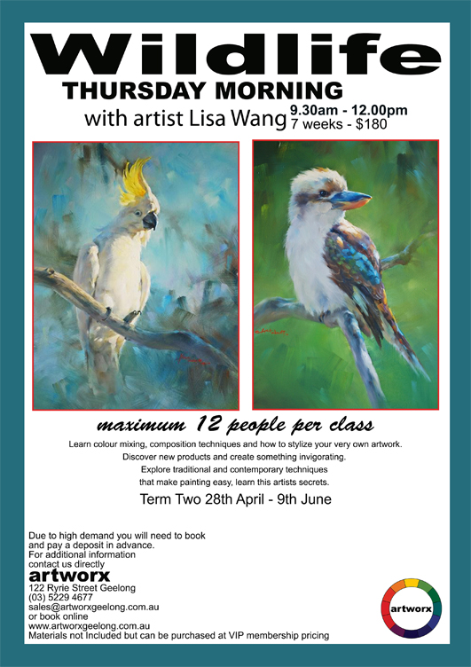 Term 2 Oil Painting Classes Wild Life with artist Lisa Wang