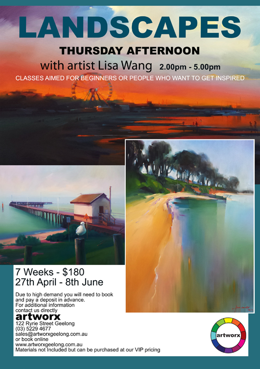 Term 2 Oil Landscapes Afternoon Thursday 27th April - 8th June 2017