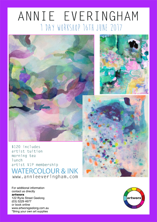 One Day Watercolour & Ink Workshop 16th June 2017