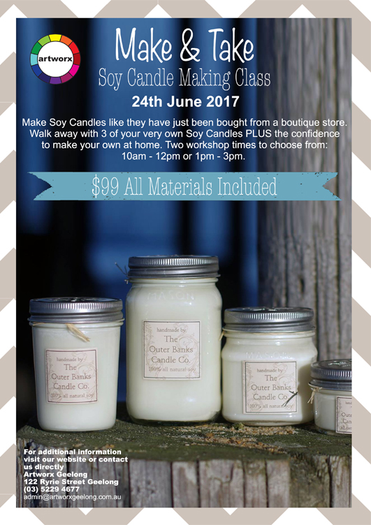 Candle Making Classes, Candle Making Class, Soy Candle Making Class