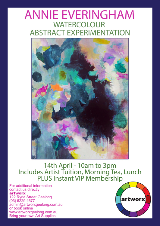Water Color Abstract Experimentation Workshop in the Artworx Geelong Studio