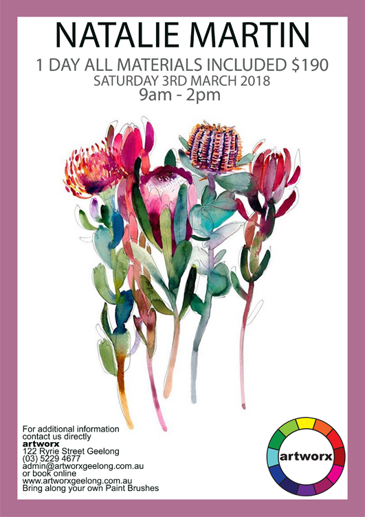 One Day Watercolour Workshop 3rd March 2018