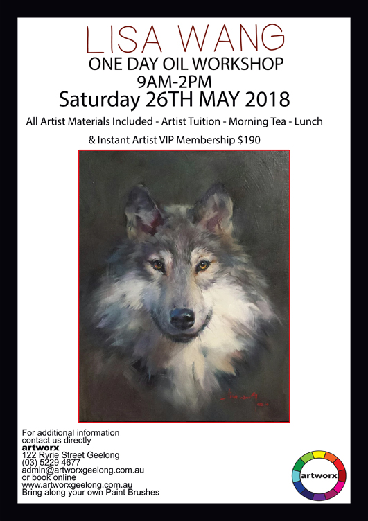 One Day Oil Wild Wolf Workshop Saturday 26th May 2018
