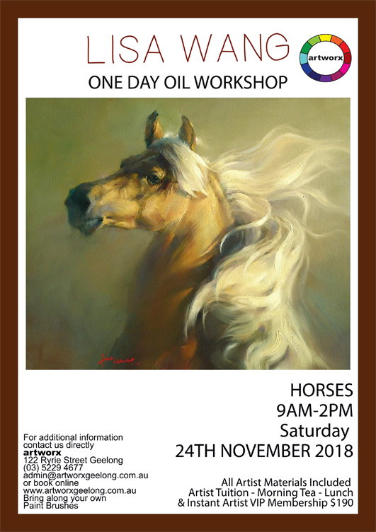 One Day Horses Oil Workshop Saturday 24th November 2018