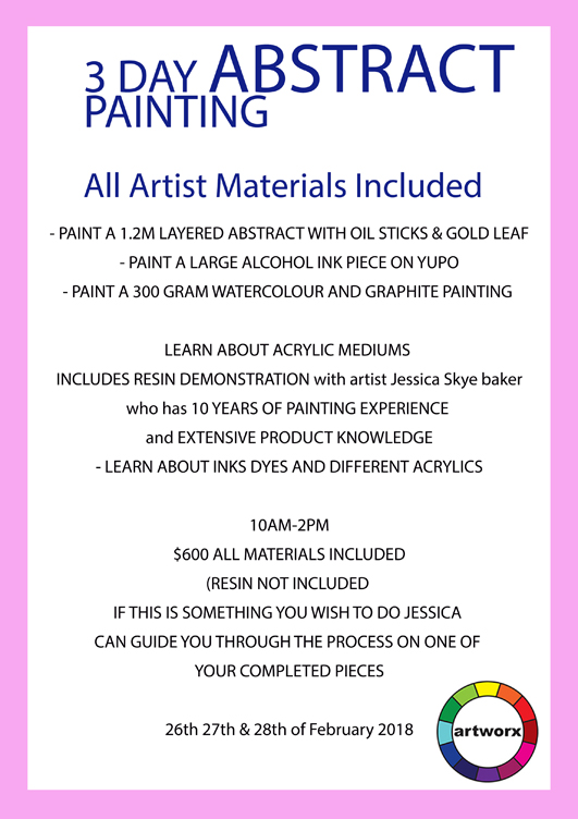 3 Day Abstract Painting Workshop