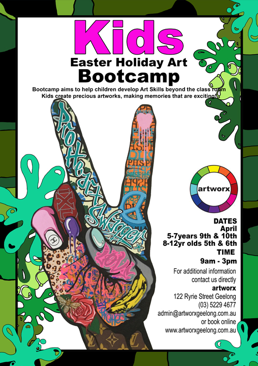 School Holiday Program Easter Art Bootcamp 2018