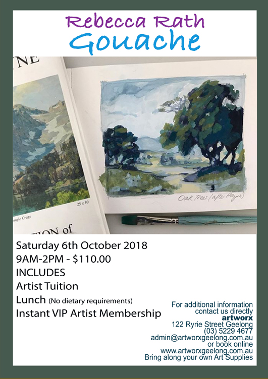 Gouache Workshop Saturday 6th October 2018