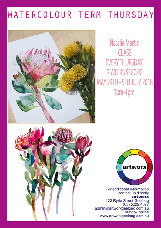 2018 Water Colour Term Classes Thursday Afternoon