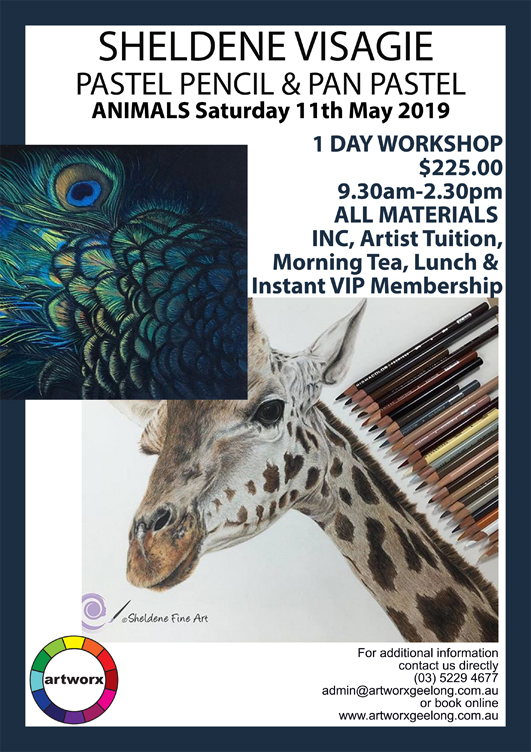 One Day Animal Pastel & Pencil Workshop