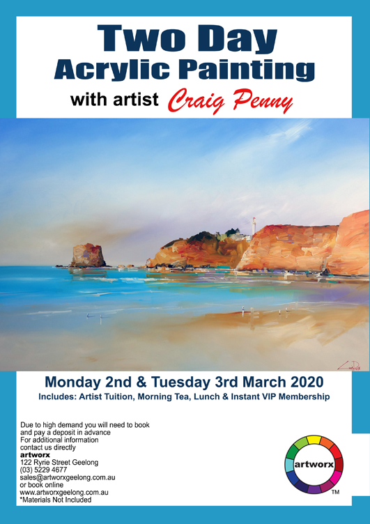 Two Day Acrylic Painting Seascape Workshop with Artist Craig Penny