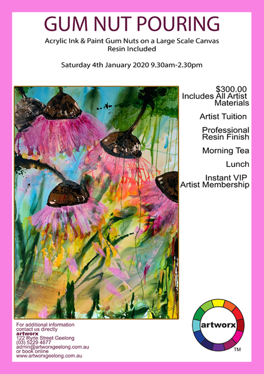 Saturday 4th January Abstract Gum Nut Pouring