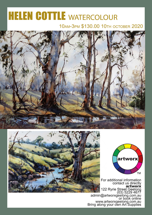 Landscape Watercolours Saturday 10th October with Helen Cottle 2020