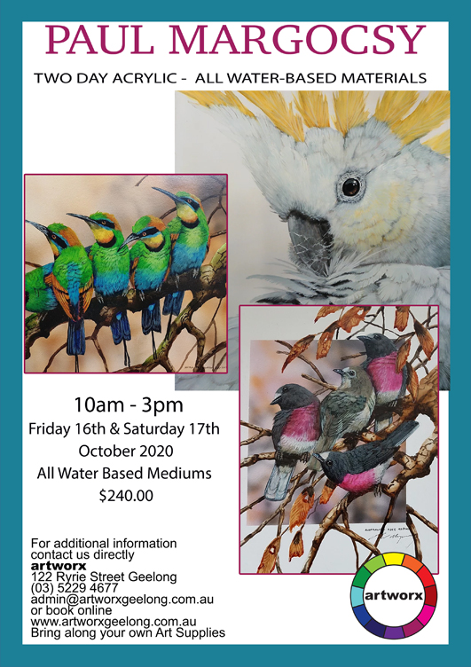 2 Day Acrylic Workshop 16th & 17th October 2020