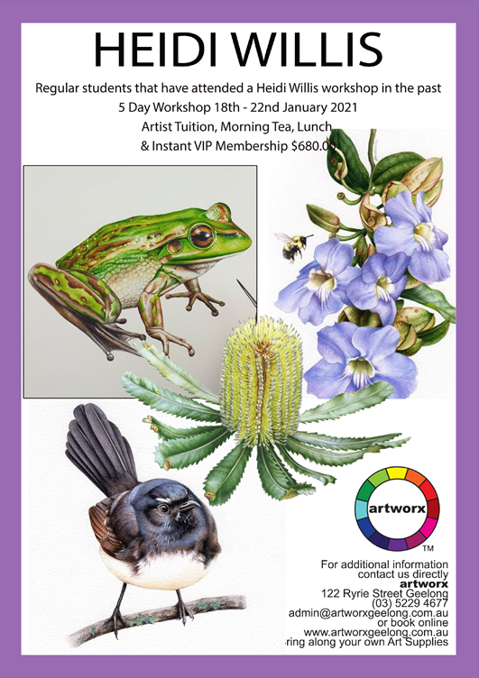 5 Day Advanced Botanicals 18th 22nd January 2021 Artworx Geelong