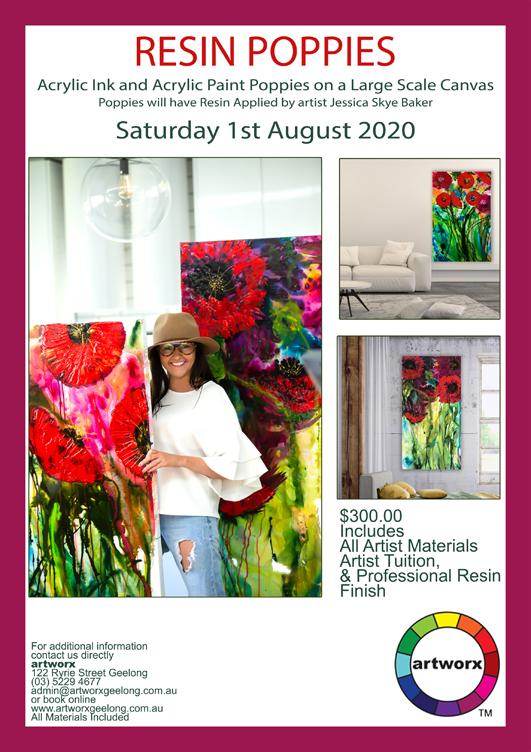1st August 2020 Red Resin Poppies