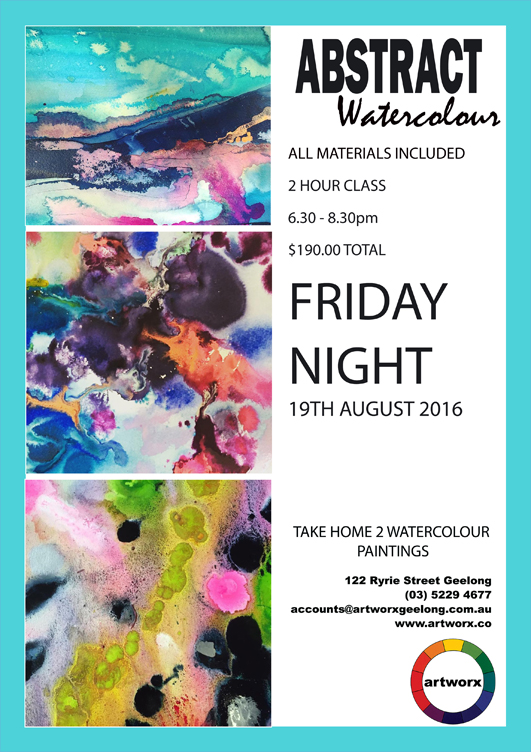 Abstract Watercolours 19th August Friday Night